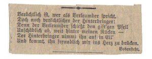 Scan Gedicht kein titel von Bodenstedt