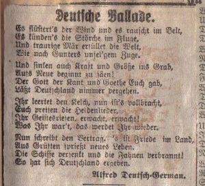 Scan Gedicht Deutsche Ballade